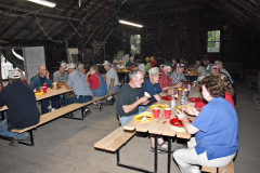 Al Feekes provided a wonderful fish fry dinner the night before the Patoot.