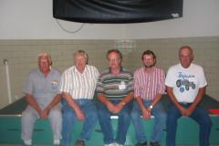 The first FENA officers, Jim Storment, Paul Nelson, John Iwen, David Lory, and Gene Kruse.