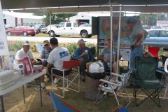 Relaxing in the FENA tent.