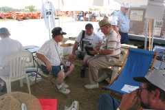 Gary Carhill, Jim Nisbet, and a visitor.