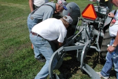 Abe Wiens Conducting the Plow Clinic with Paul Thicke