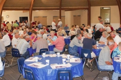 banquet crowd Saturday evening