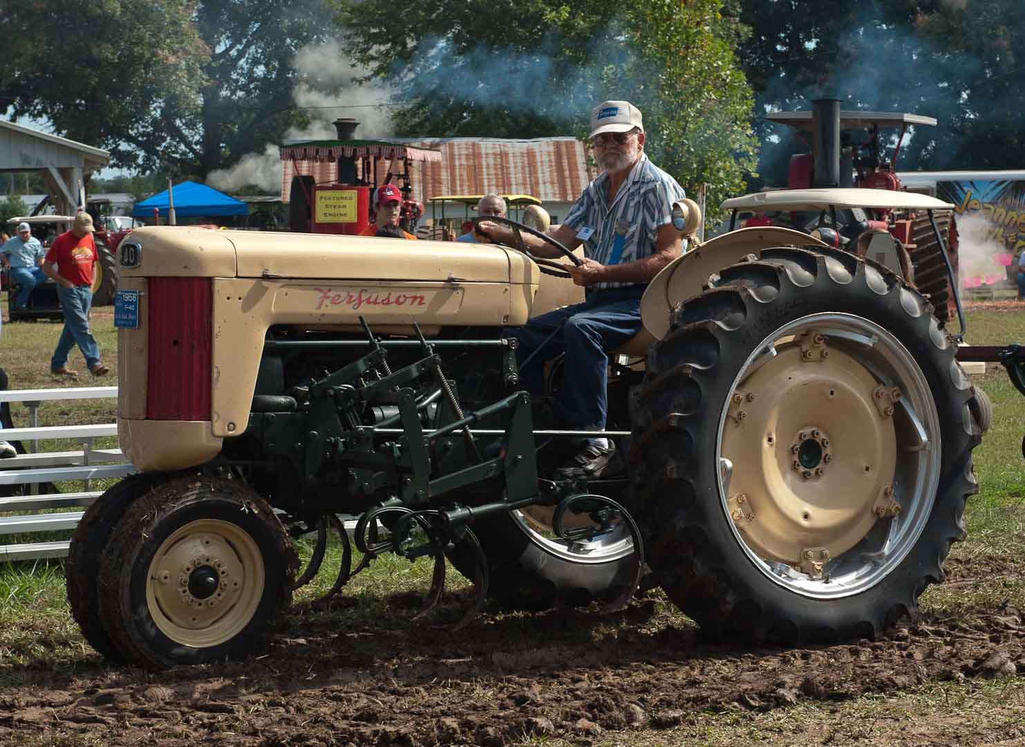 Al Hoyt of Center Hill, FL on his F40 with 2-Row cultivator.