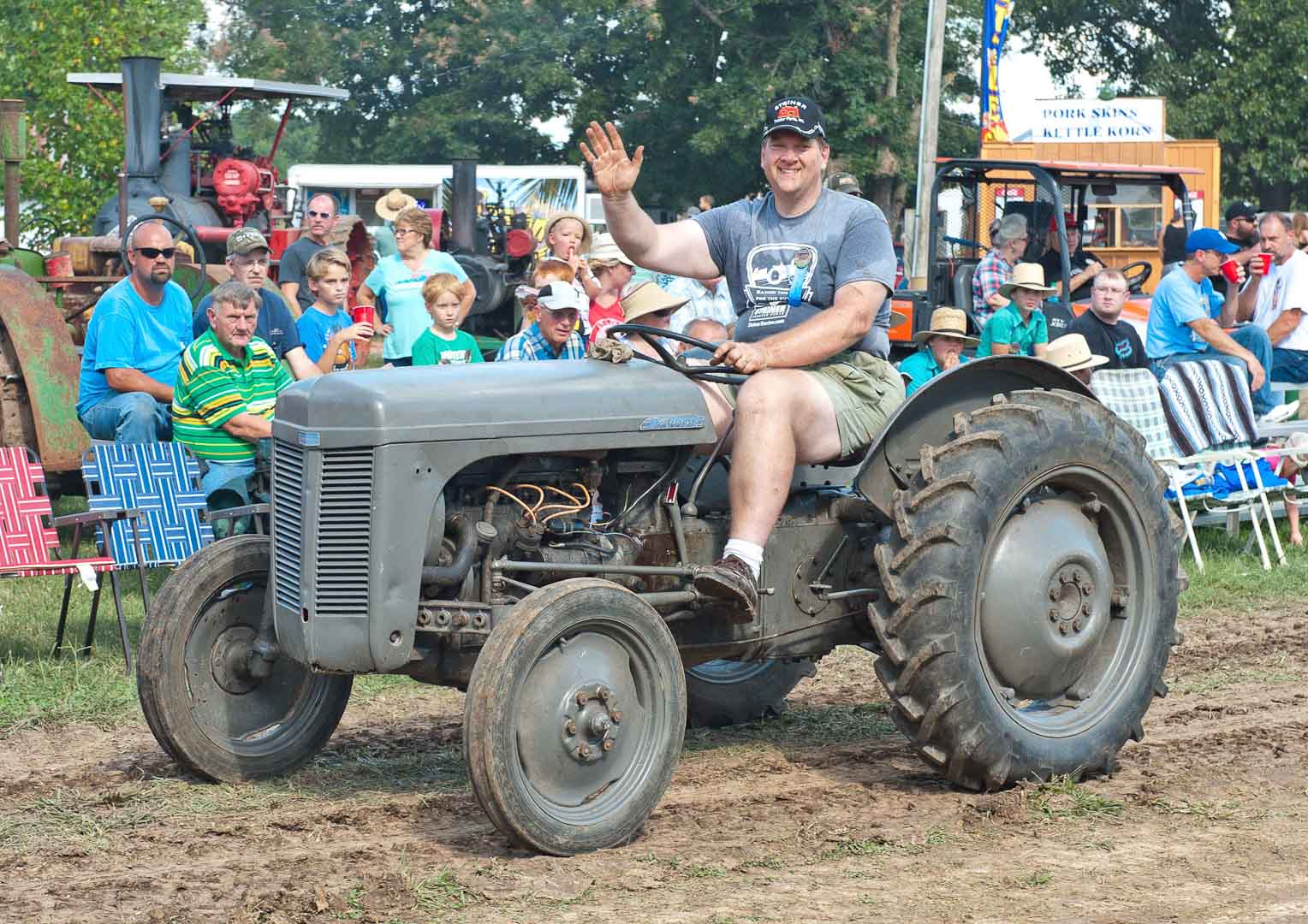 Jeff Miller of Cincinnati, OH on the 1949 TO-20 used for the Tractor Build.