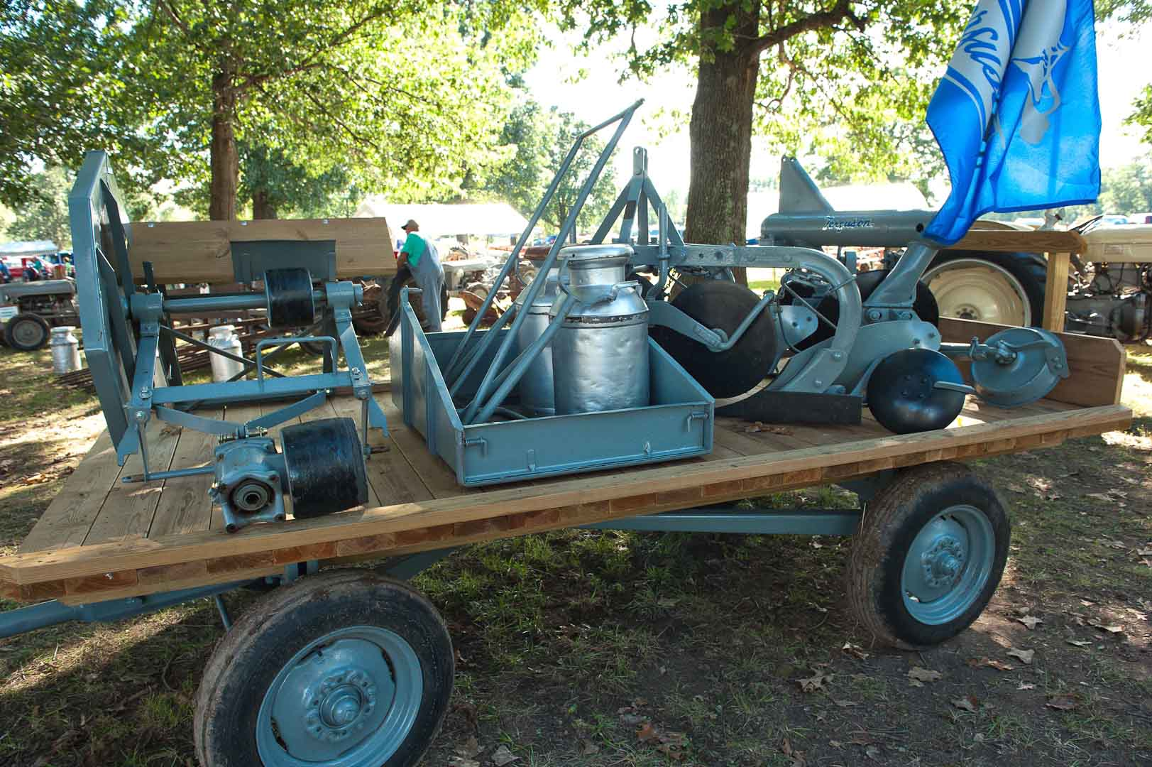 Sean Haskin's (Wasola, MO) trailer of implements.