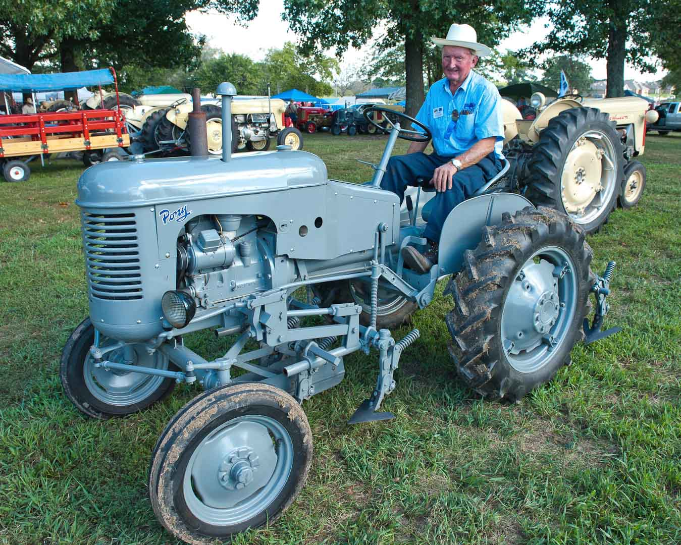 Richard Kimball of West Liberty OH -- Ferguson Pony with 1-row Cultivator.