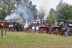 The Ozark Steam Engine Association member's steam tractors at the Steam-O-Rama.