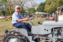 Richard Kimball of West Liberty OH on his 1954 Ferguson Pony with 1-row cultivator.