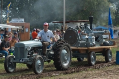 Peter Smith from Wilmslow Cheshire England, driving Sean Haskin's TO-20 and trailer of implements.