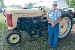 Al Hoyt of Centerhill, FL with 1956 F40 with 2-row cultivator.