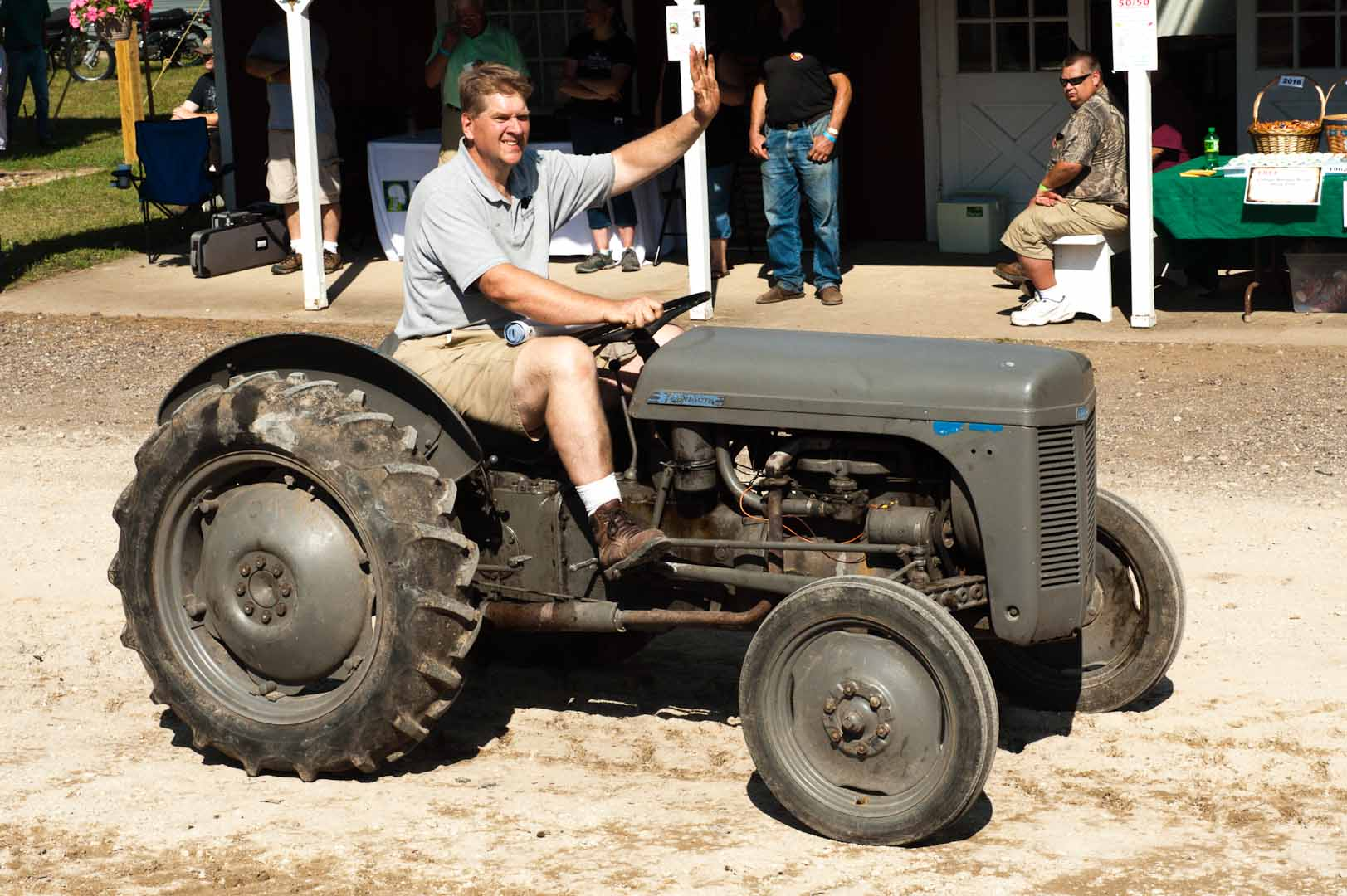 Jeff Miller driving the tractor build TO-20.