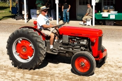Jerry Sall driving his 1961 MF-35 Diesel.