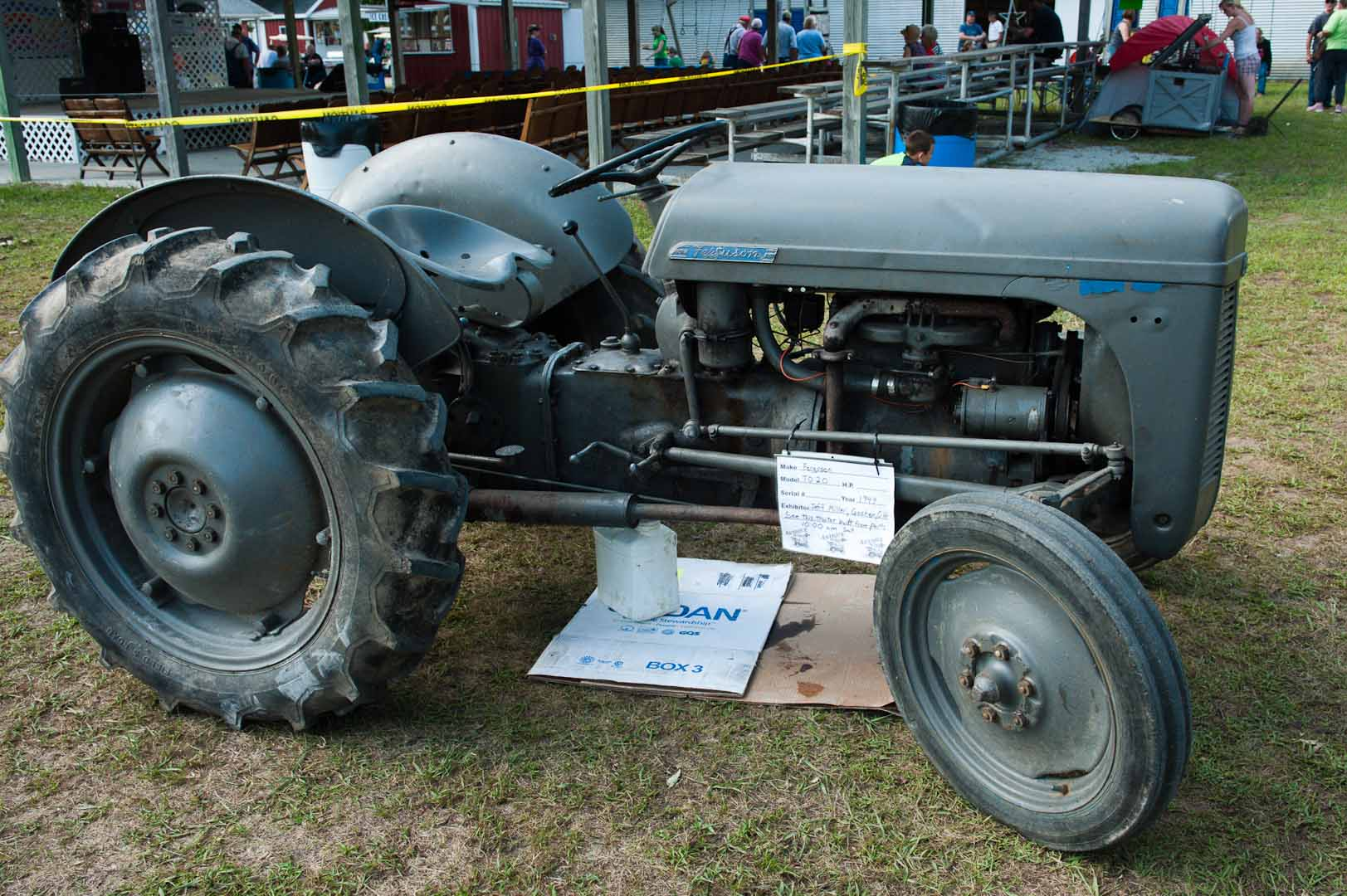 1949 TO-20 owned by Jeff Miller of Goshen, IA. This is the tractor that gets rebuilt once a day at shows. It has been rebuilt 32 times since the Monroe, MI show in 2010.
