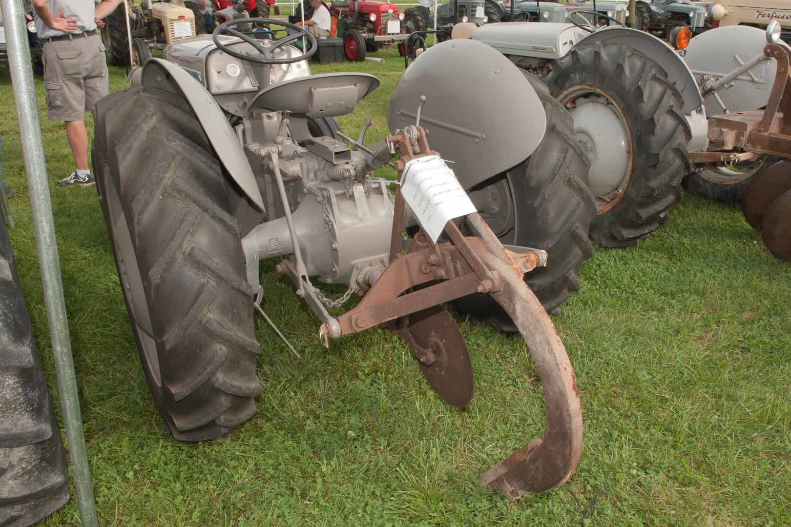 1950 TO-20 SN TO-16476 owned by Henry and Pat Graham of Troy, MO.  Implement is a Ferguson Subsoiler.