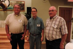 The new slate of FENA officers, President Neil Ferguson, Vice President Brent Holaway, and Secretary Gordon Foster.