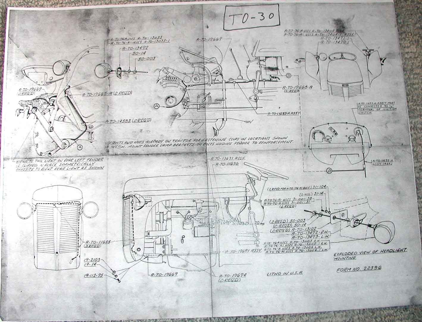 wiring diagram for super m tractor wiring diagram for to30 ferguson tractor