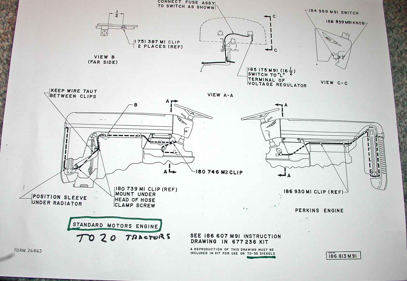 TO35 Diesel Lighting Harness electrical and lighting diagrams ferguson enthusiasts of north ferguson te20 wiring diagram at aneh.co